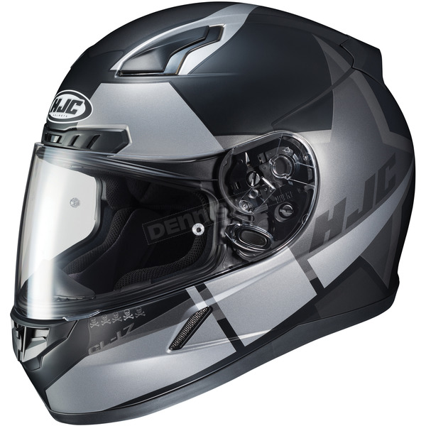HJC Semi-Flat Black/Silver CL-17 Boost MC-5SF Helmet - 852-756
