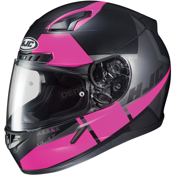 HJC Semi-Flat Black/Pink CL-17 MC-8SF Helmet - 852-782