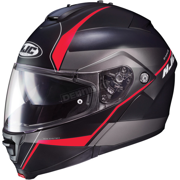 HJC Semi-Flat Black/Red IS-Max2 Mine MC-1SF Helmet - 990-717