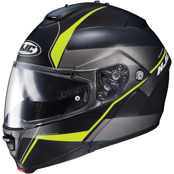 HJC Semi-Flat Black/Neon Green IS-Max2 Mine MC-3HSF Helmet - 990-733