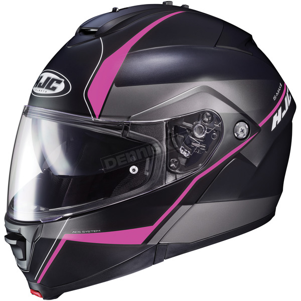 HJC Semi-Flat Black/Pink IS-Max2 Mine MC-8SF Helmet - 990-783