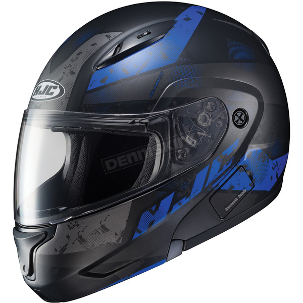 HJC Semi-Flat Black/Blue CL-MAXBT 2 Friction MC-2SF Helmet - 996-725