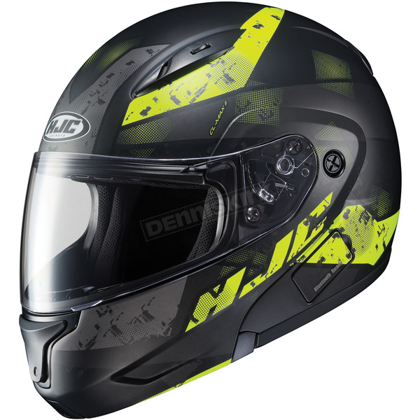 HJC Semi-Flat Black/Neon Green CL-MAXBT 2 Friction MC-3HSF Helmet - 996-732