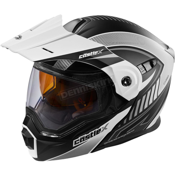 Castle X Flat White/Black EXO-CX950 Apex Snow Helmet - 45-19102