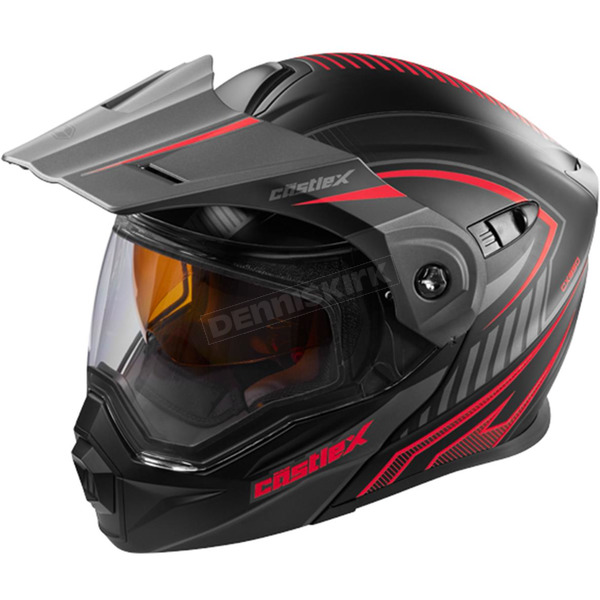 Castle X Flat Red/Black EXO-CX950 Apex Snow Helmet - 45-19116