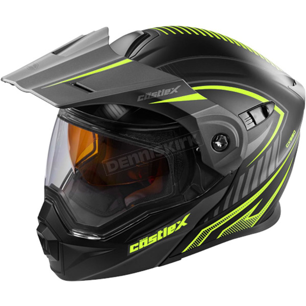 Castle X Flat Hi-Vis/Black EXO-CX950 Apex Snow Helmet - 45-19132