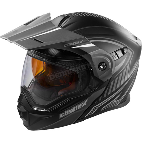 Castle X Flat Black/Gray EXO-CX950 Apex Snow Helmet - 45-19158