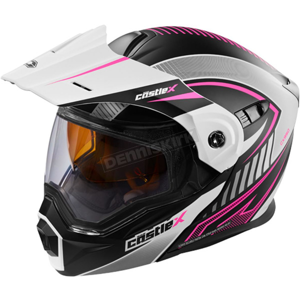 Castle X Flat White/Pink EXO-CX950 Apex Snow Helmet - 45-19186