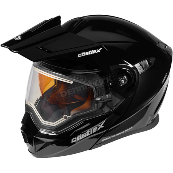 Castle X Black EXO-CX950 Snow Helmet w/Electric Shield - 45-29009T