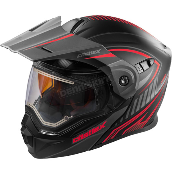 Castle X Flat Red/Black EXO-CX950 Apex Snow Helmet w/Electric Shield - 45-29112