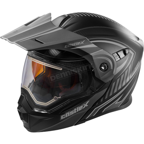 Castle X Flat Black/Gray EXO-CX950 Apex Snow Helmet w/Electric Shield - 45-29152