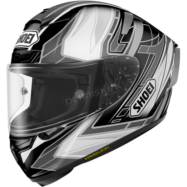 Shoei Helmets Black/Silver/White X-Fourteen Assail TC-5 Helmet - 0104-1105-05