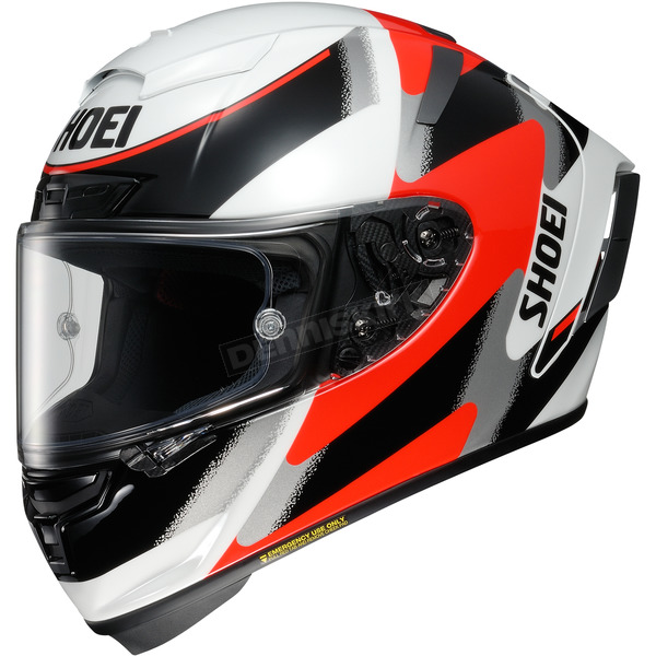 Shoei Helmets White/Red/Black X-Fourteen Rainey TC-1 Helmet - 0104-1401-05