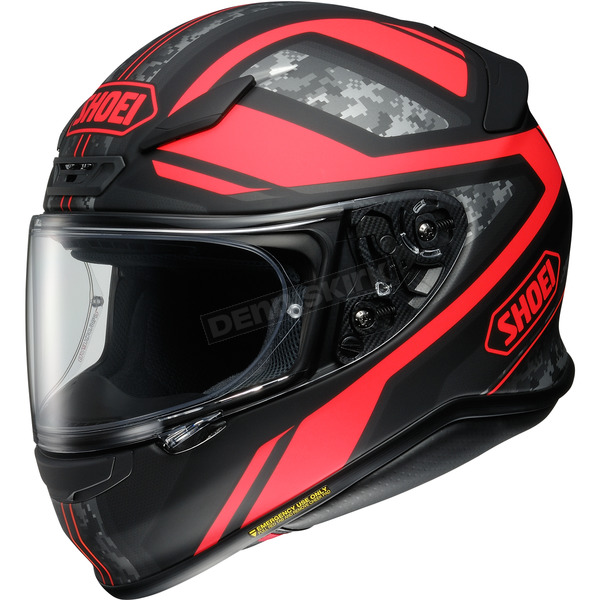Shoei Helmets Matte Black/Red RF-1200 Parameter TC-1 Helmet - 0109-3001-07