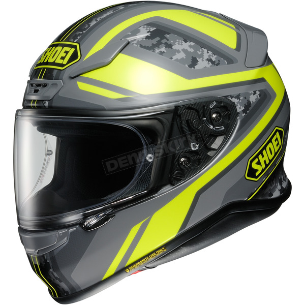 Shoei Helmets Hi-Vis Yellow/Gray Camo RF-1200 Parameter TC-3 Helmet - 0109-3003-07