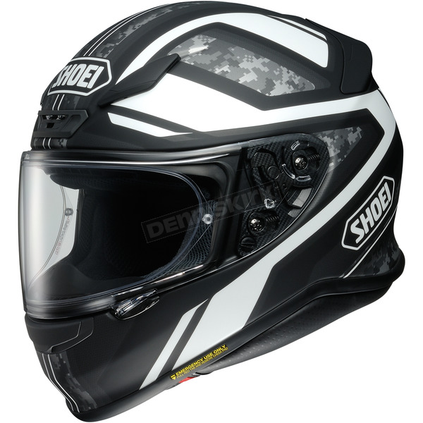 Shoei Helmets Matte Black/White/Gray Camo RF-1200 Parameter TC-3 Helmet - 0109-3005-06
