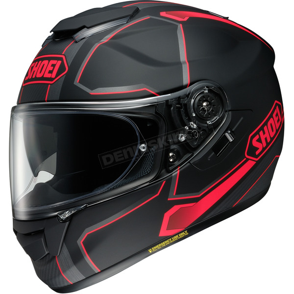 Shoei Helmets Matte Black/Gray/Red GT-Air Pendulum TC-1 Helmet - 0118-2001-03