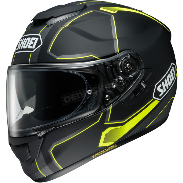 Shoei Helmets Matte Black/Gray/Hi-Viz Yellow GT-Air Pendulum TC-3 Helmet - 0118-2003-03
