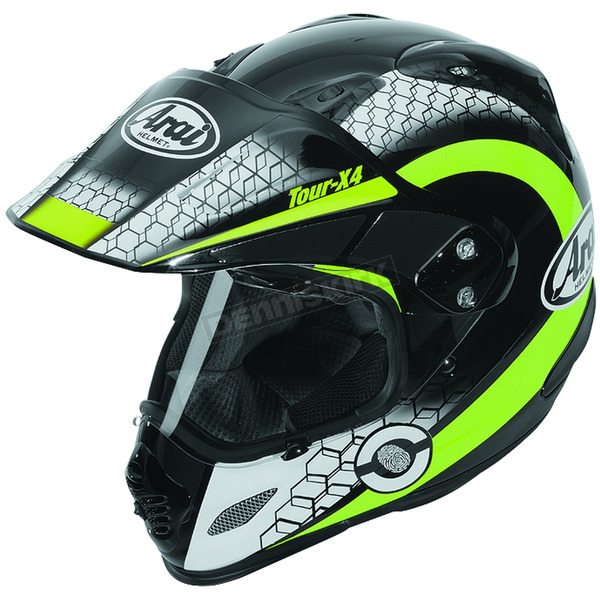 Arai Helmets Black/Neon Green/White Multi-Colored XD4 Mesh Helmet - 807404