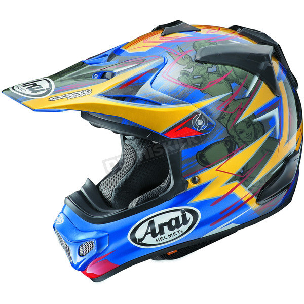 Arai Helmets Blue/Yellow/Black Multi-Colored VX-Pro 4 Tickle Trophy Girl Helmet - 807500