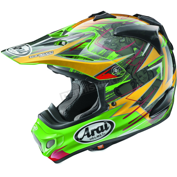 Arai Helmets Green/Yellow/Black Multi-Colored VX-Pro 4 Tickle Trophy Girl Helmet - 807532