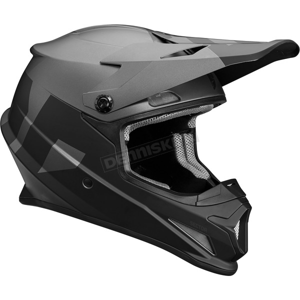 Thor Black/Grey Sector Level Helmet  - 0110-5134