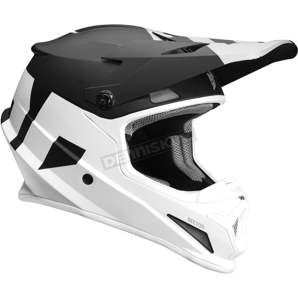 Thor Black/White Sector Level Helmet  - 0110-5139