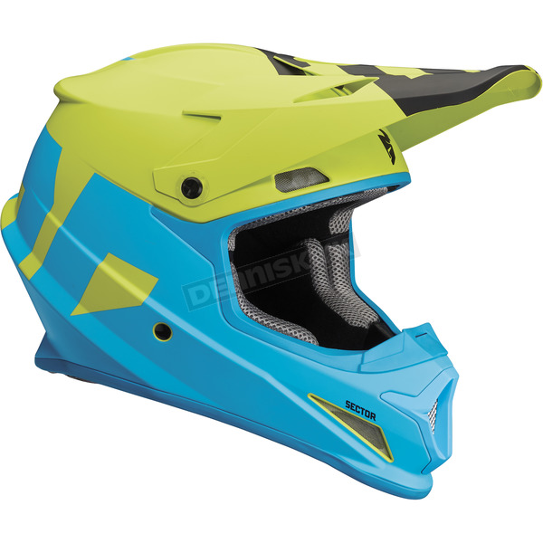 Thor Blue/Lime Sector Level Helmet  - 0110-5144