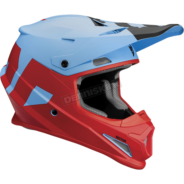Thor Blue/Red Sector Level Helmet - 0110-5152
