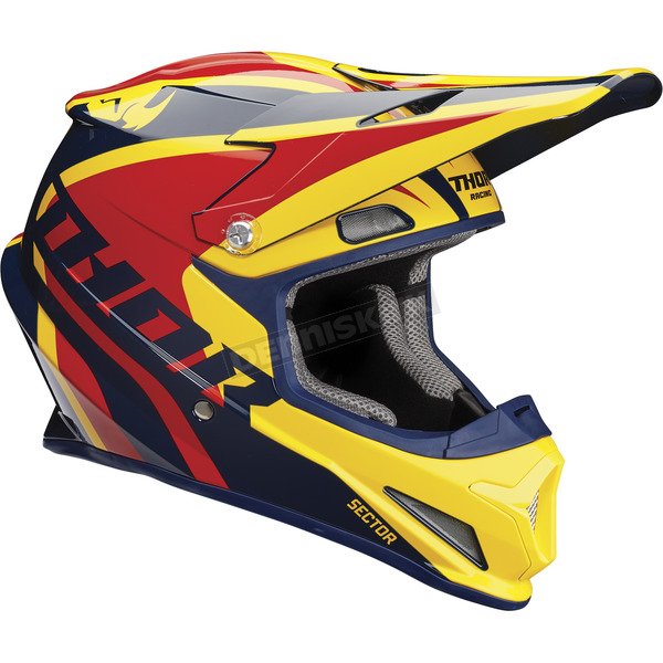 Thor Navy/Yellow Sector Ricochet Helmet - 0110-5175