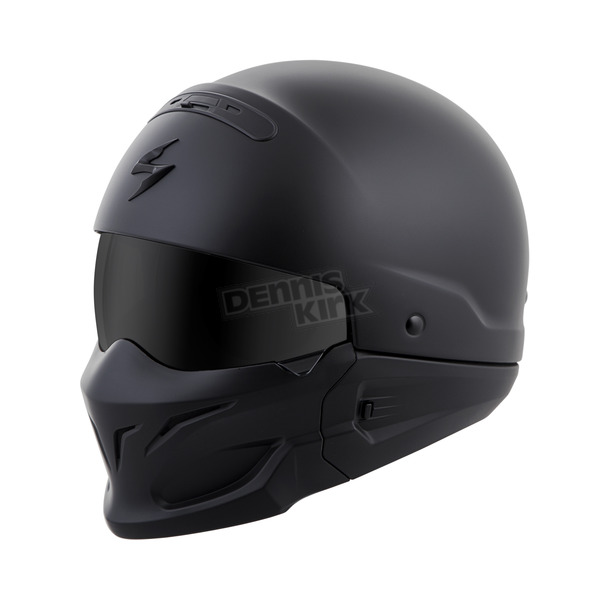 Scorpion Matte Black Covert Helmet - COV-0108