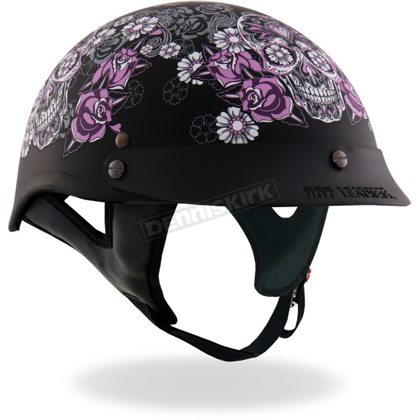 Hot Leathers Sugar Skull Helmet - HLD1031M