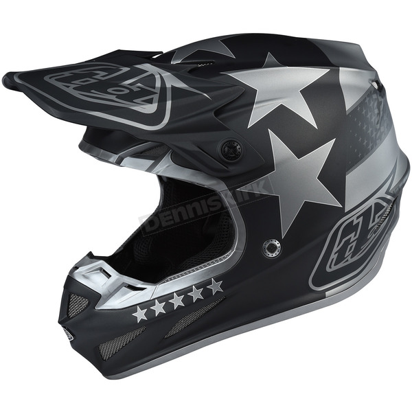 Troy Lee Designs Black Freedom SE4 Composite Helmet - 101142201