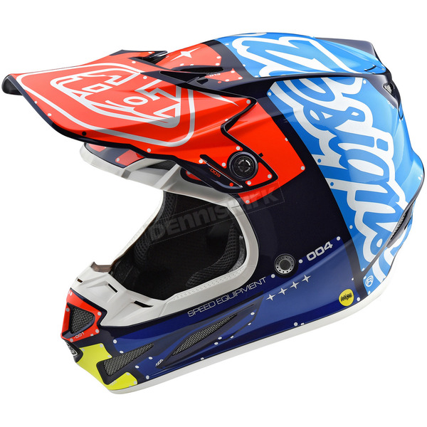 Troy Lee Designs Navy/Red Factory SE4 Composite Helmet - 101008334