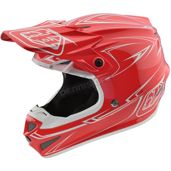 Troy Lee Designs Red Pinstripe SE4 Helmet - 109018405