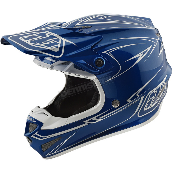 Troy Lee Designs Blue Pinstripe SE4 Helmet - 109018304