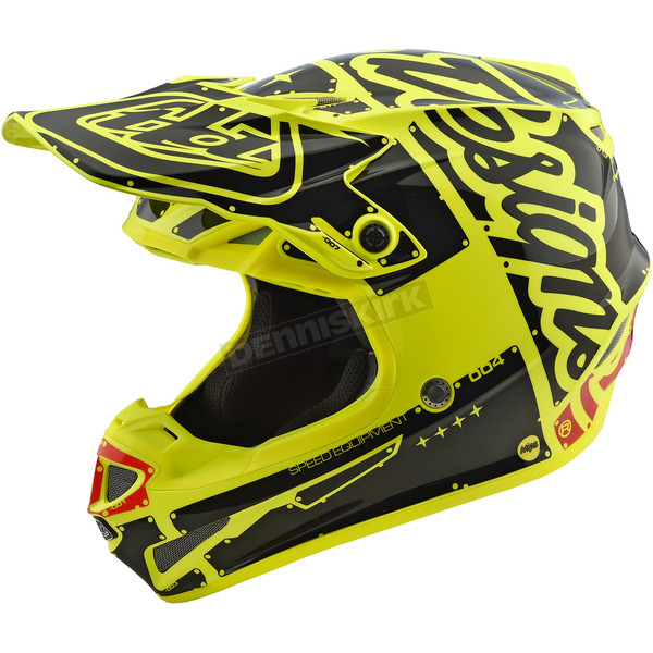 Troy Lee Designs Yellow Factory SE4 Helmet - 109008501
