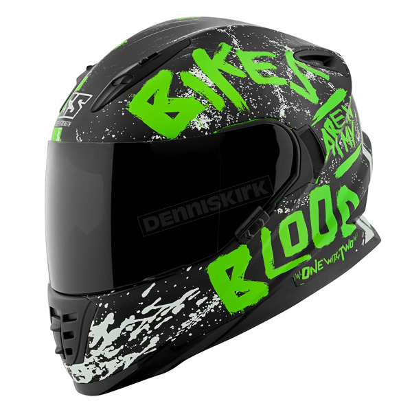 Speed and Strength Green/Black Bikes Are In My Blood SS1310 Helmet - 1111-0601-4653