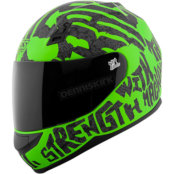 Speed and Strength Green/Black Rage With The Machine SS700 Helmet - 1111-0602-1356
