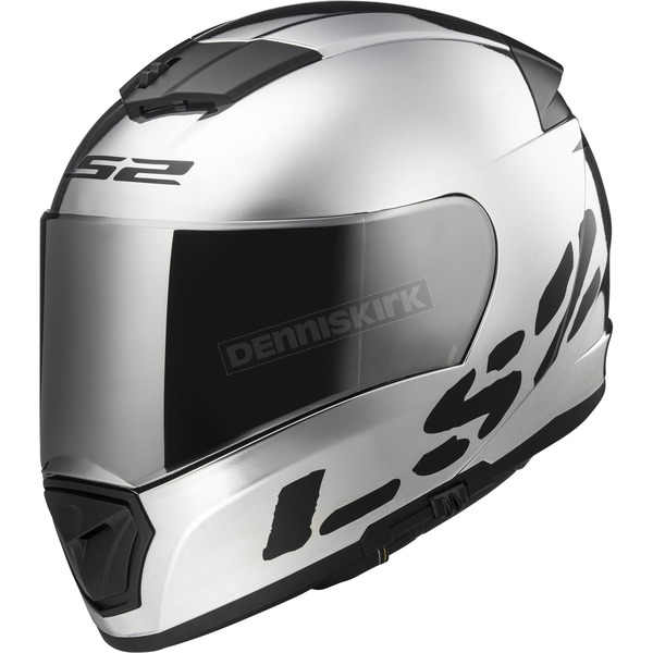 LS2 Chrome/Black Breaker Helmet - 390-1403