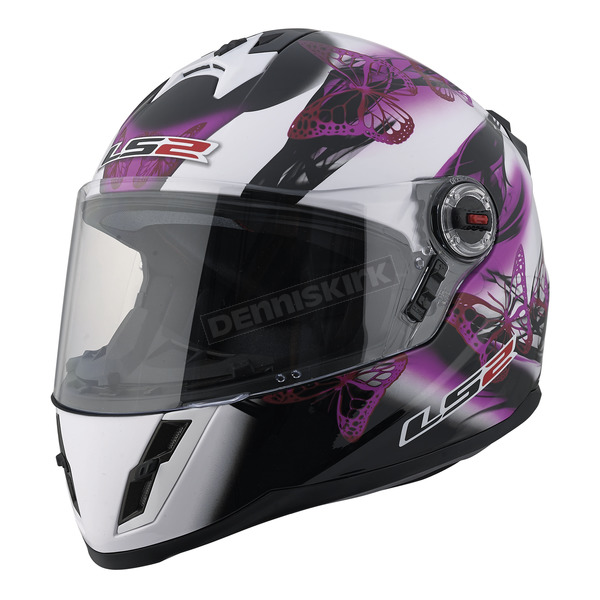 LS2 Youth Pink/Black/White 392J Flutter Helmet - 392-1024