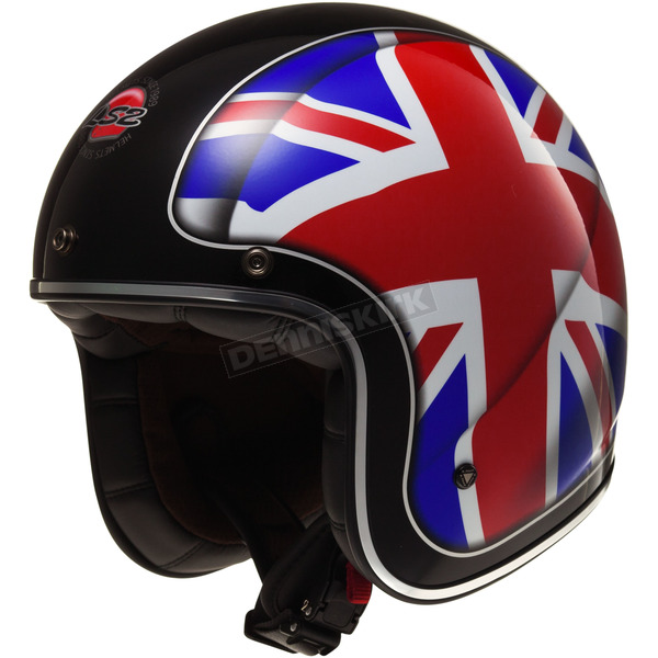 LS2 Red/White/Blue Kurt Bobber Union Helmet - 588-1034