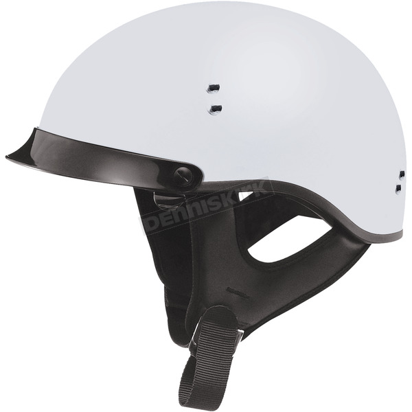 GMax Flat White GM65 Full Dress Half Helmet - G9650438