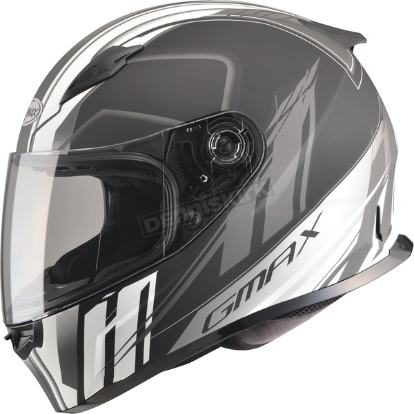 GMax Matte Black/Silver/White FF49 Rogue Street Helmet - G7493439 F.TC-15