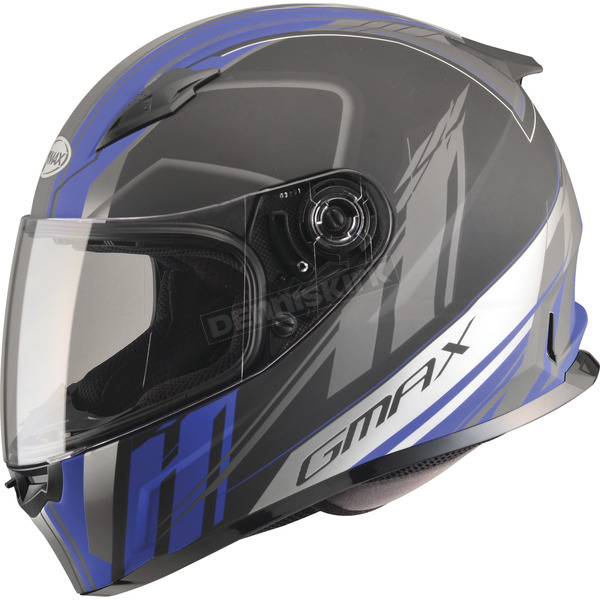 GMax Matte White/Blue/Black FF49 Rogue Street Helmet - G7493213 F.TC-2