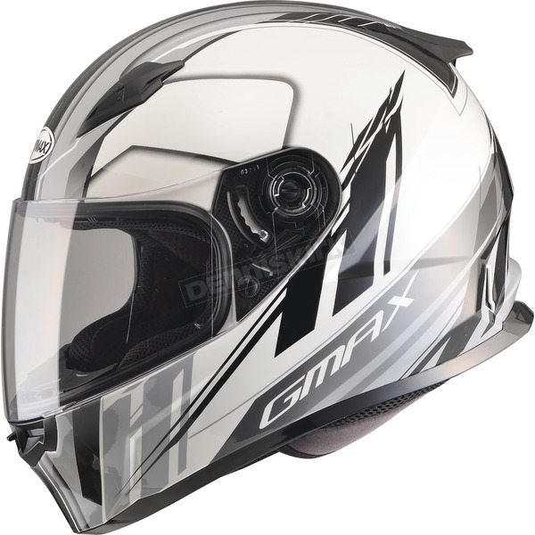 GMax White/Silver/Black FF49 Rogue Street Helmet - G7493247 TC-5