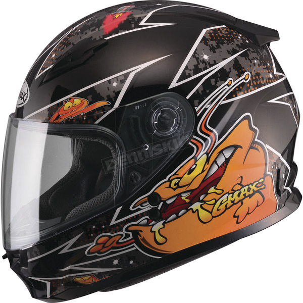 GMax Youth Black/Orange GM49Y Alien Street Helmet - G7496252 TC-6