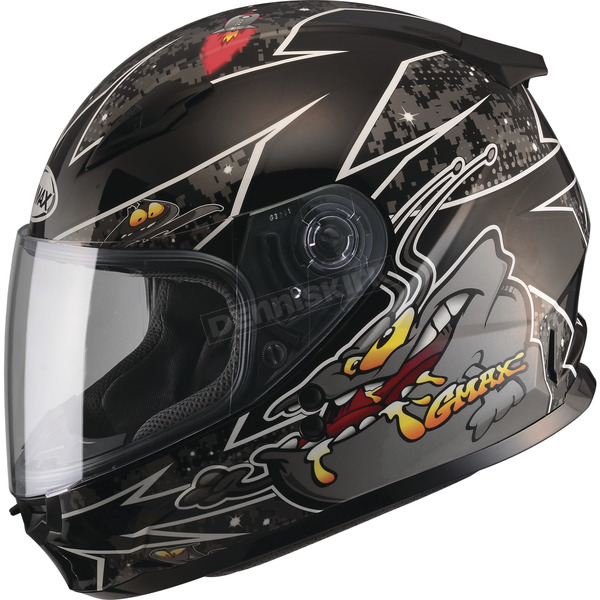 GMax Youth Black/Silver GM49Y Alien Street Helmet - G7496242 TC-5