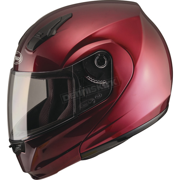 GMax Wine Red MD04 Modular Street Helmet - G104104