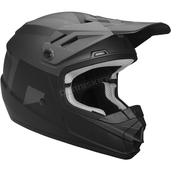 Thor Matte Black/Charcoal Youth Sector Level Helmet - 0111-1075